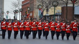 Marching during 2010 Christmas Parade